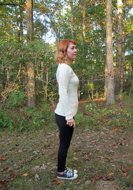White Graphite Sweater - side