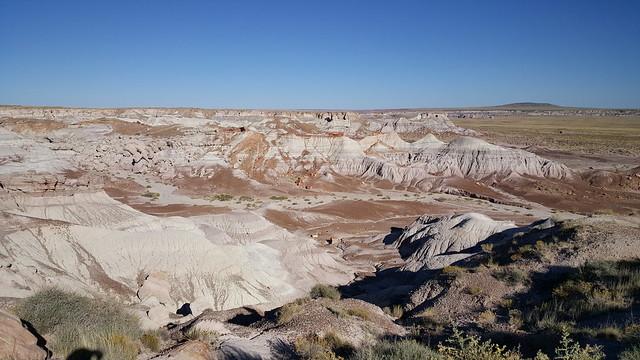 The blue rock at Blue Mesa