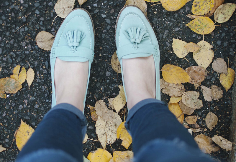 mint loafer ootd 3