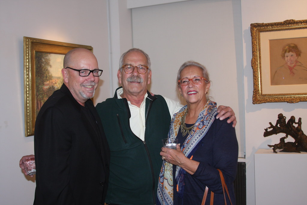 Gallery owner Ron Cavalier with featured artist Robert Zappalorti & wife Vida