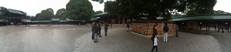 Meiji Shrine area, near Ema plaques.