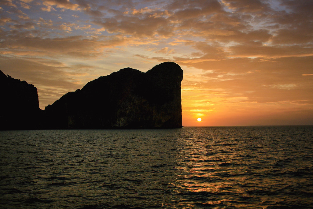 Sunset in Ko Phi Phi. Thailand.