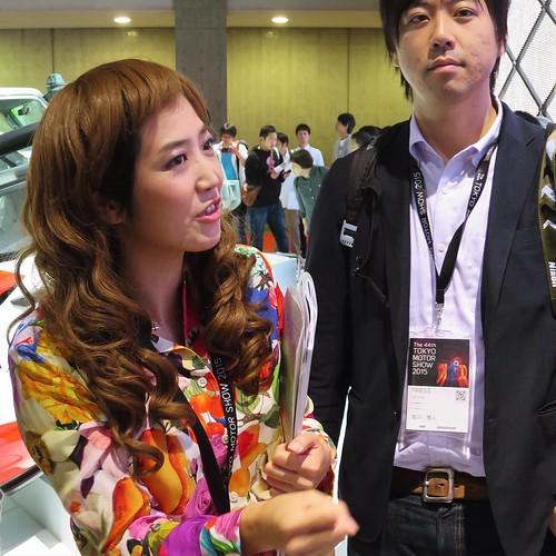 見学後半。あ、髪の毛!もしかして。。。 #最初から知ってた #東京モーターショー #ベストカーアンバサダー