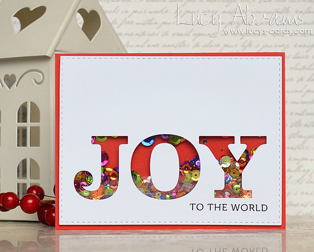 Joy Shaker Card by Lucy Abrams