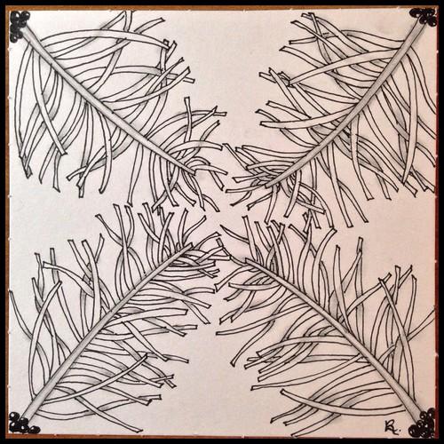 Zentangle 106 for joey's weekly tangle challenge #85