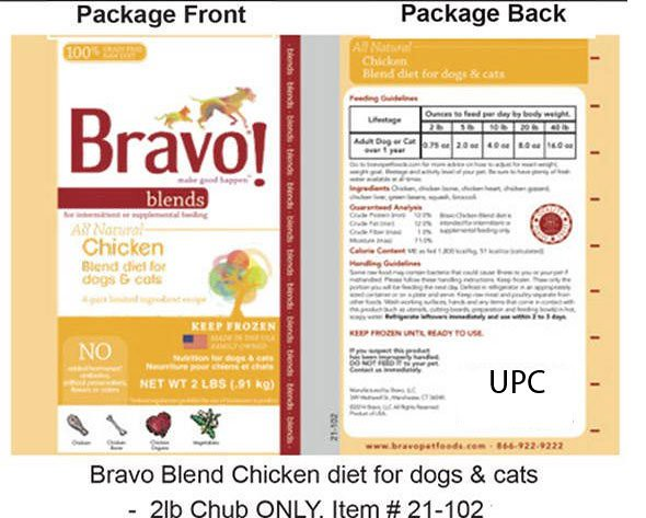 bravo-cat-food-recall-blend-chicken-diet
