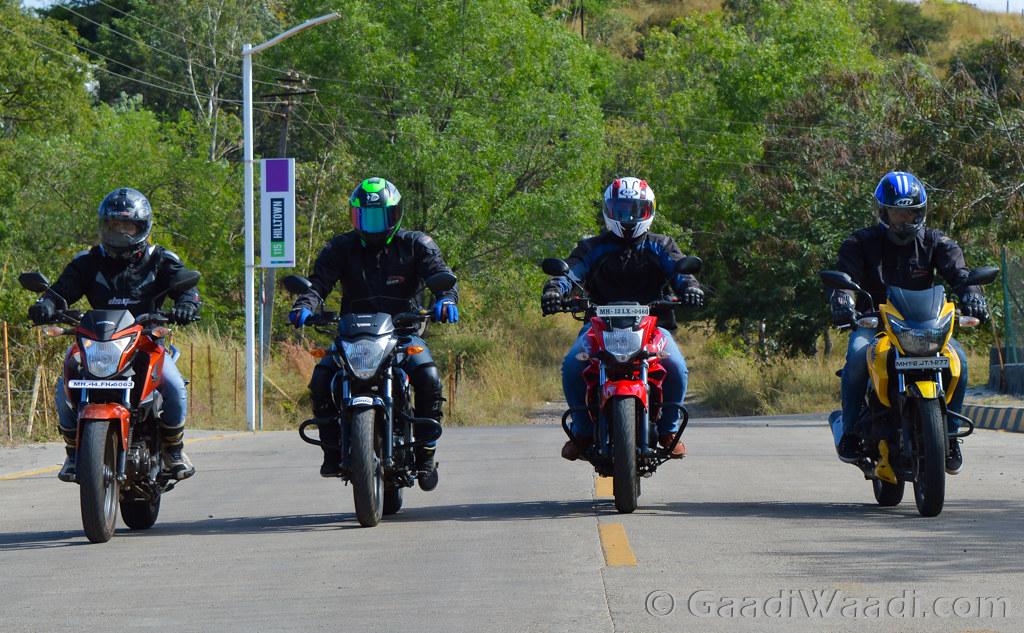 Honda CB Hornet vs Suzuki Gixxer vs Yamaha FZ vs TVS Apache (1)