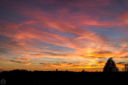 Sunset Troy IL 24 Nov 2015