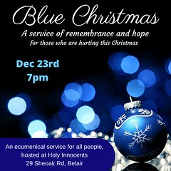 Blue Christmas - A service of remembrance and hope for those who are hurting this Christmas 2015