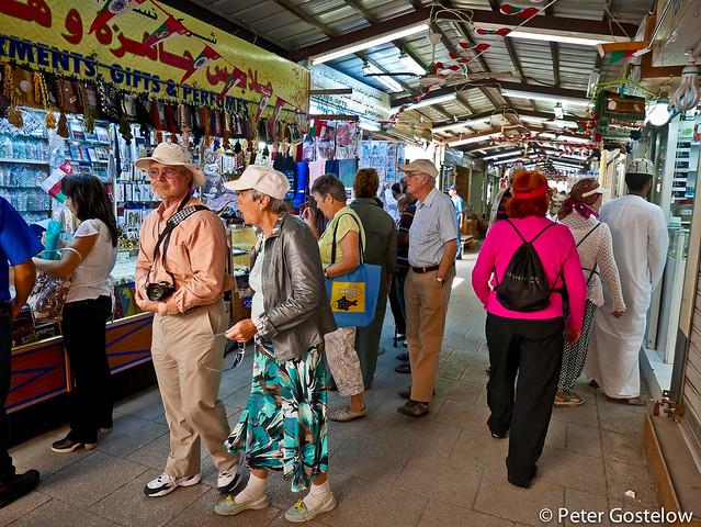 Cruise boat tourists in Salalah Souq