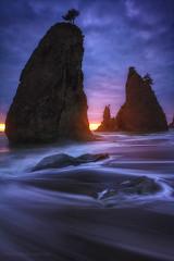 off shore columns of resistant rock
