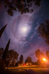 Halo around the moon