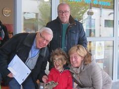 op wandel met de grootouders