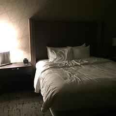 Bout to hit this comfy bed! Hotels for the win.