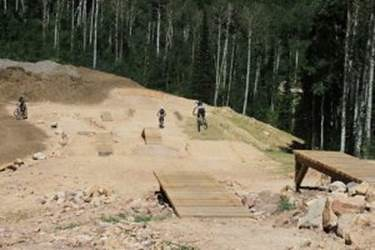 Freestyle biking at Canyons