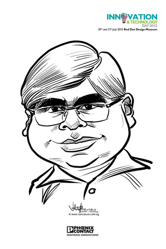 digital live caricature for Innovation & Technology Day 2015 - 12