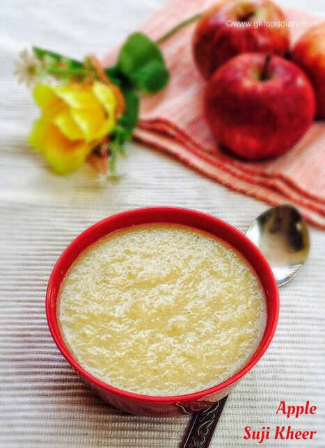 Apple Suji Kheer for babies