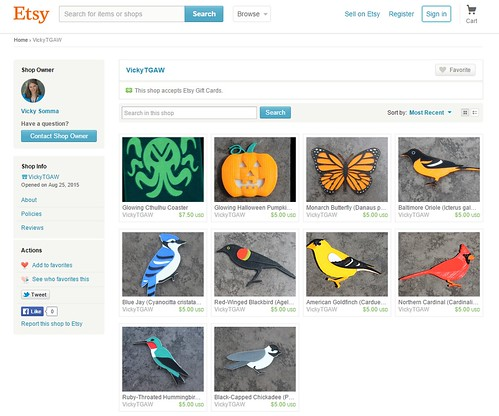 Etsy Screenshot!