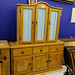 Large waxed pine kitchen dresser