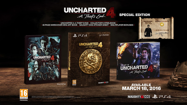 Uncharted 4 — дата выхода и коллекционные издания