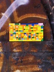 Art is Boring, Lego street art, Brooklyn
