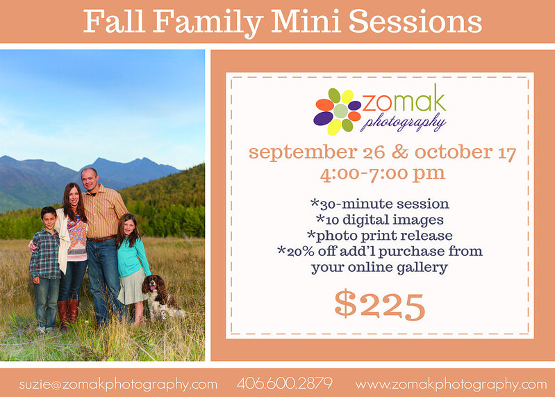 Fall mini session flyer