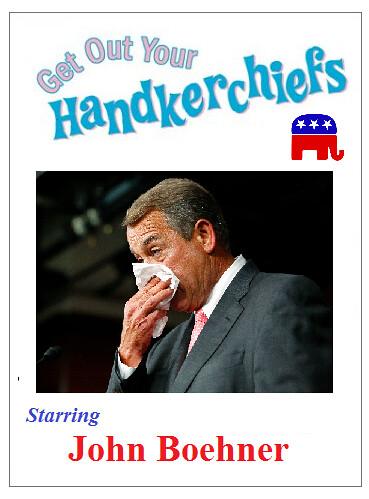 Boehner: 'Bye-Bye. Sniff.'