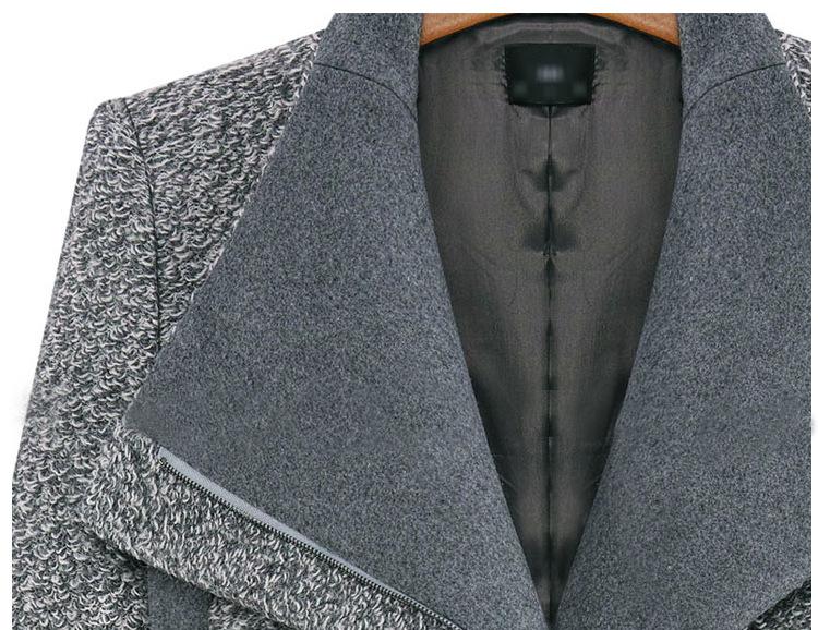 GOGO SHOP☆╭冬裝長袖雙撞色大翻領磨毛顯瘦針織毛呢短版款西裝外套【X9827】S~XL大尺碼條紋露背zara外套