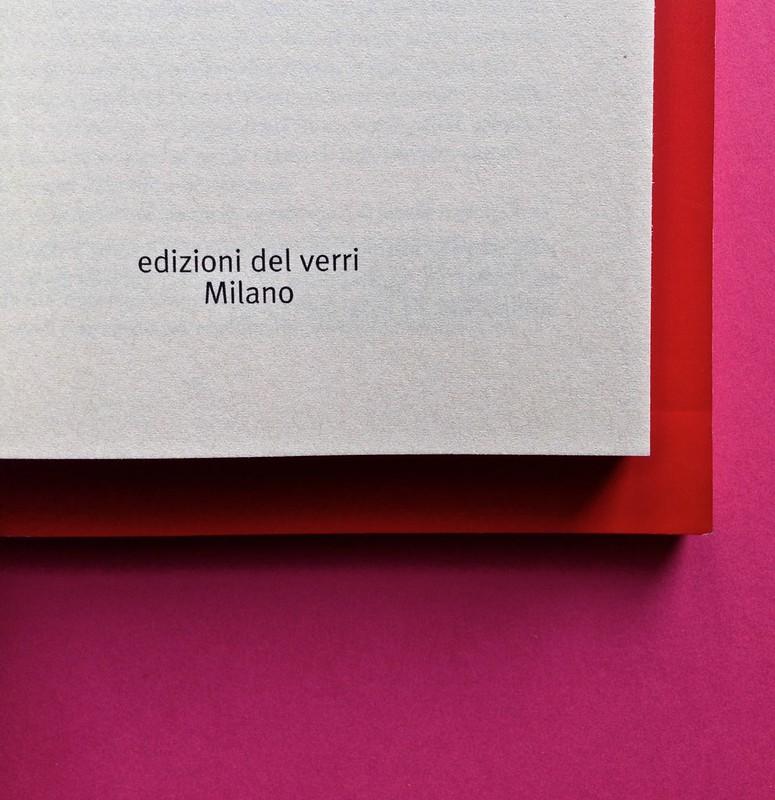 Edizioni del Verri / Collana rossa. Progetto grafico di Valerio Anceschi e Giovanni Anceschi. Frontespizio, a pag. 3 (part.), 2