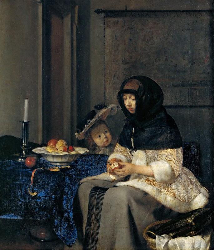 Gerard ter Borch - The Apple Peeler (c.1660)