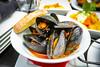 Mejillones Con Chorizo - Sauteed Mussels, Chorizo, Ginger Broth - La Tasca