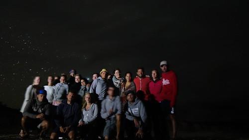 Ein Teil der Gruppe am Strand #nofilter