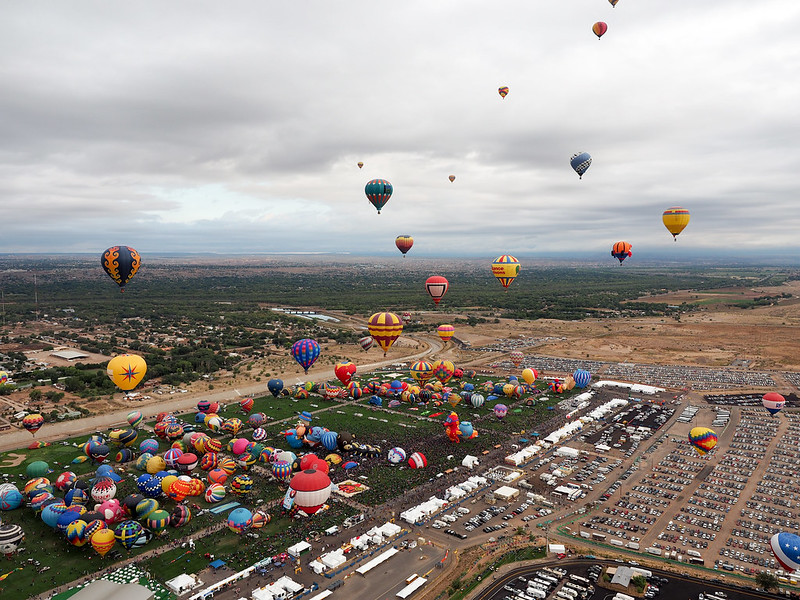 Albuquerque International Balloon Fiesta 2015 from the air