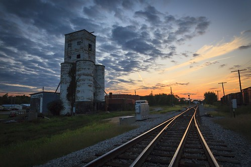silo, grain, elevator, clouds, sky, cloudy, sky, September, 2010, tracks, train tracks, rural, rural missouri, small town, midwest, USA, America, american landscape, Missouri, Notley, Notley Hawkins, 10thavenue, http://www.notleyhawkins.com/, Missouri, Photography, Notley Hawkins Photography, Rural Photography, Mexico Missouri, Audrain County Missouri