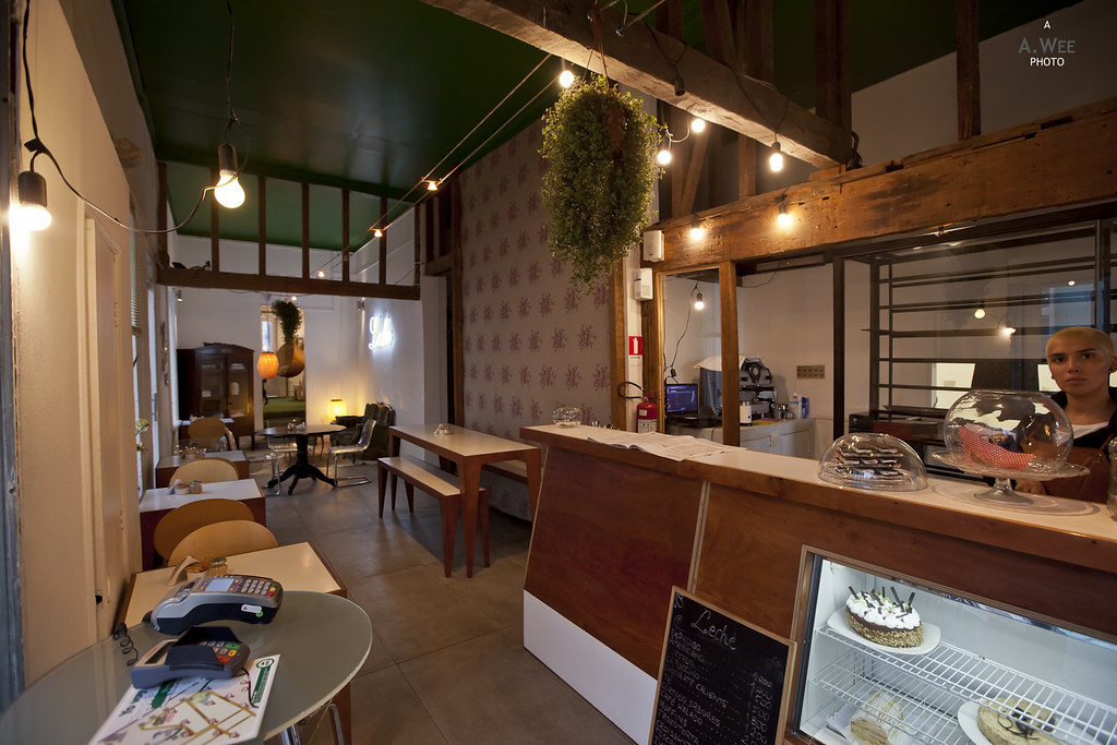 Inside a little Cafe