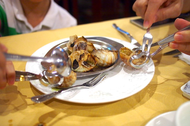 escargot. Shashlik Restaurant, Far East Shopping Centre