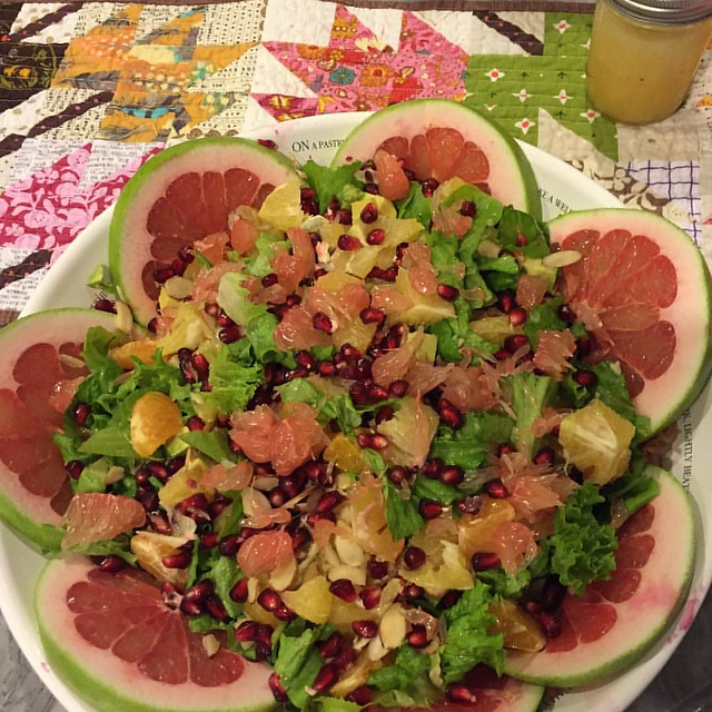 Winter citrus salad - recipe will be on the blog tomorrow 😊🍊🍋 #whole30
