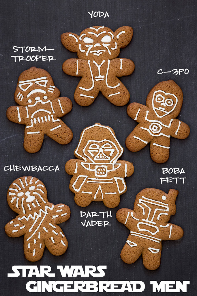 Celebrate the release of Star Wars: The Force Awakes with this Star Wars Gingerbread Men recipe + tips for baking cut out cookies