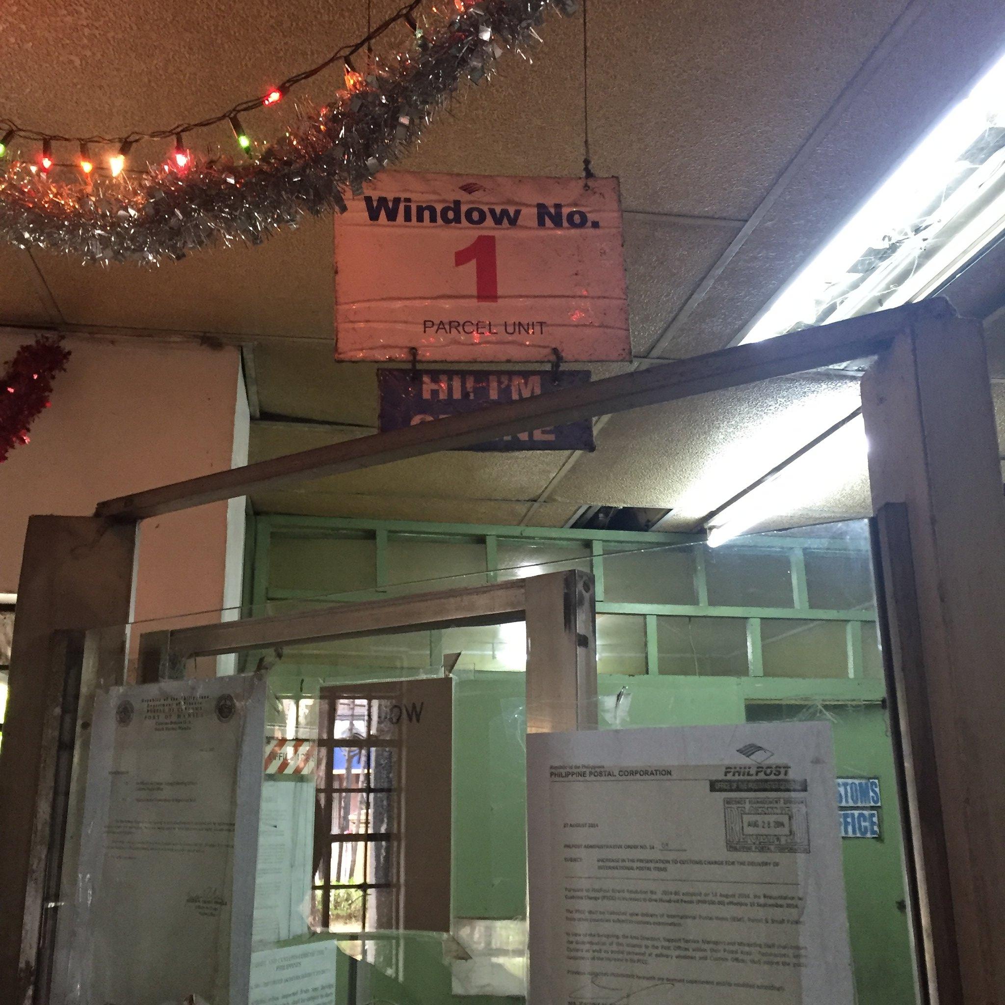 PhilPost Mandaluyong window 1