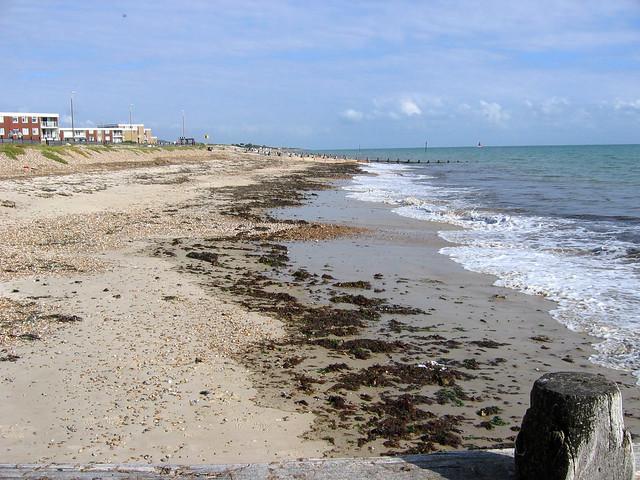 The beach at Rustington