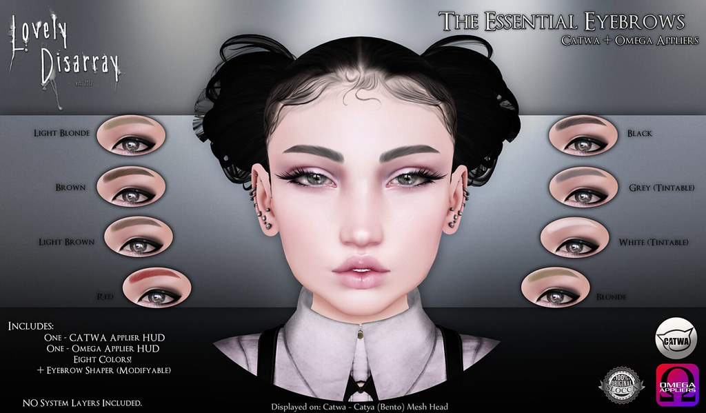 Lovely Disarray - The Essential Eyebrows @ Skin Fair 2017 - SecondLifeHub.com