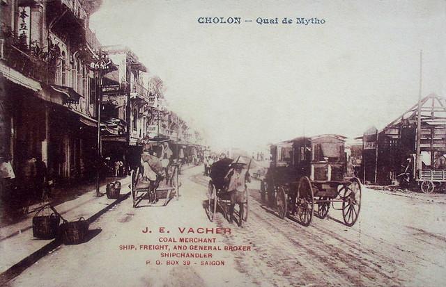 CHOLON - Quai de Mytho - Bến Mỹ Tho, trước 1975 là Bến Lê Quang Liêm, nay là đường Võ Văn Kiệt (ĐL Đông-Tây)