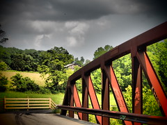 Rothrock Road Bridge, Milltown Indiana--Dramatic Tone
