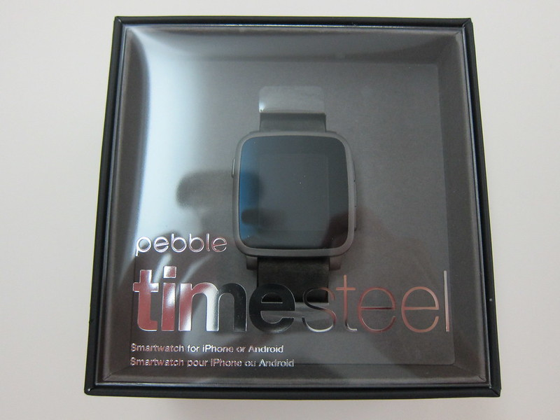 Pebble Time Steel Watch - Box Front