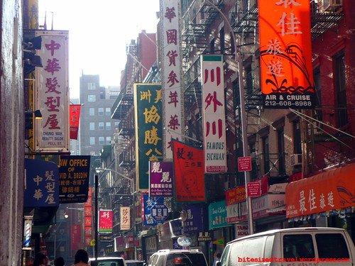 Sunday night in New York's Chinatown