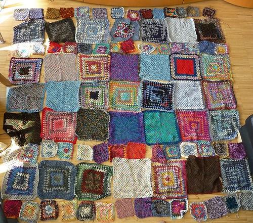 Granny Square Sock Yarn Blanket