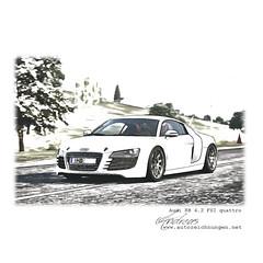 Audi R8 4.2 FSI quattro by www.autozeichnungen.net - Prints of your Car on request