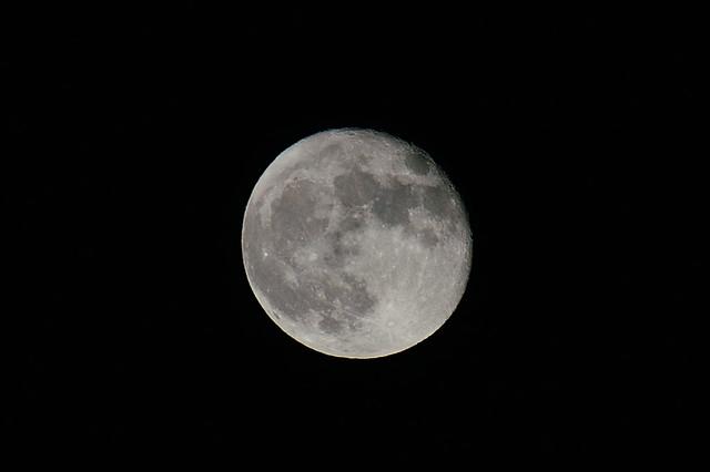 満月の翌日の月