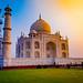 Taj at sunrise by Ashu Mittal