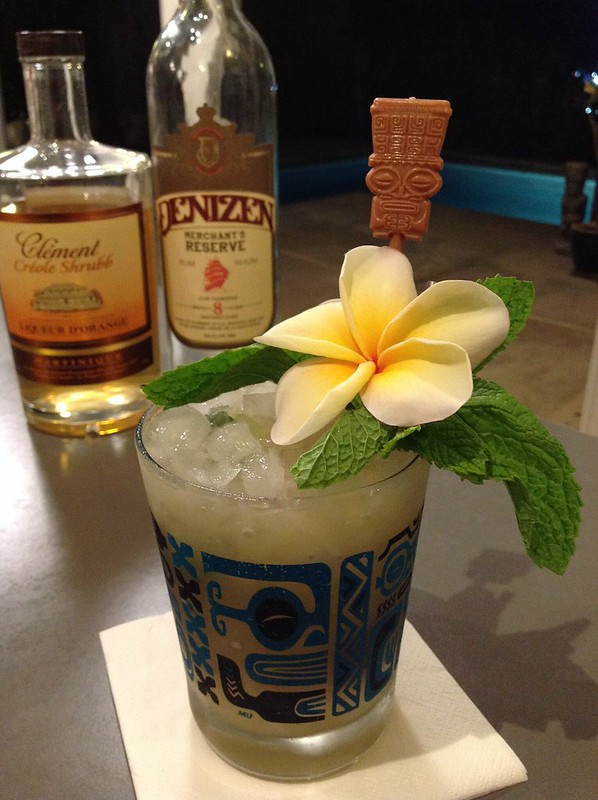 1944 Trader Vic Mai Tai with Denizen Merchant's Reserve rum, lime juice, Clement Creole shrubb, homemade orgeat, simple syrup #cocktail #cocktails #craftcocktails #tiki #tikidrinks #tradervic #rum
